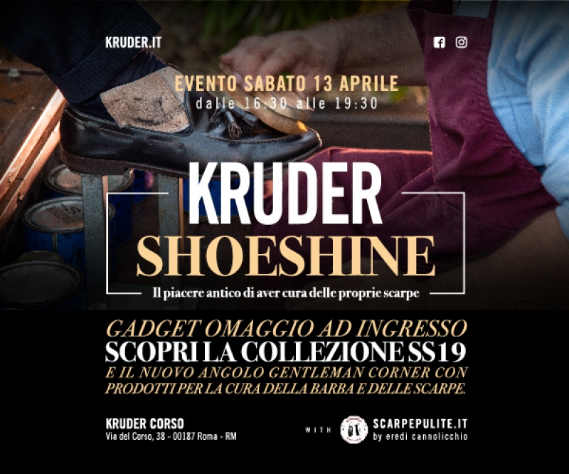 70d767316c37 Invito New #ShoeShine Event - Kruder